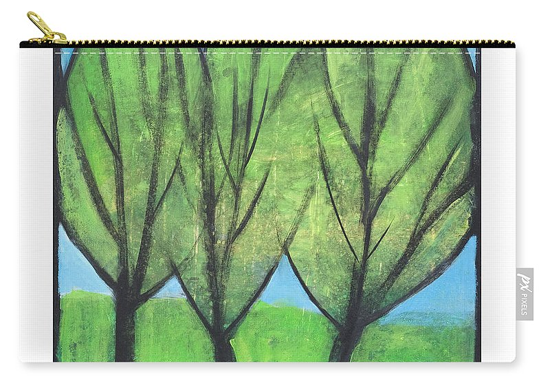 Trees Carry-all Pouch featuring the painting Three Sisters by Tim Nyberg