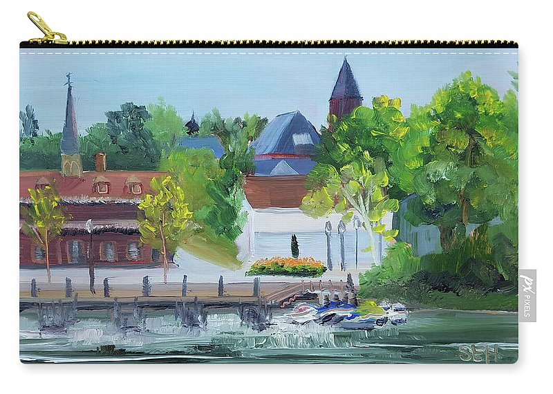 En Plein Air Carry-all Pouch featuring the painting Three Spires by Susan Hanna