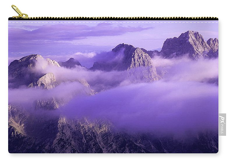Beautiful Carry-all Pouch featuring the photograph Three Summits. Julian Alps by Konstantin Dikovsky