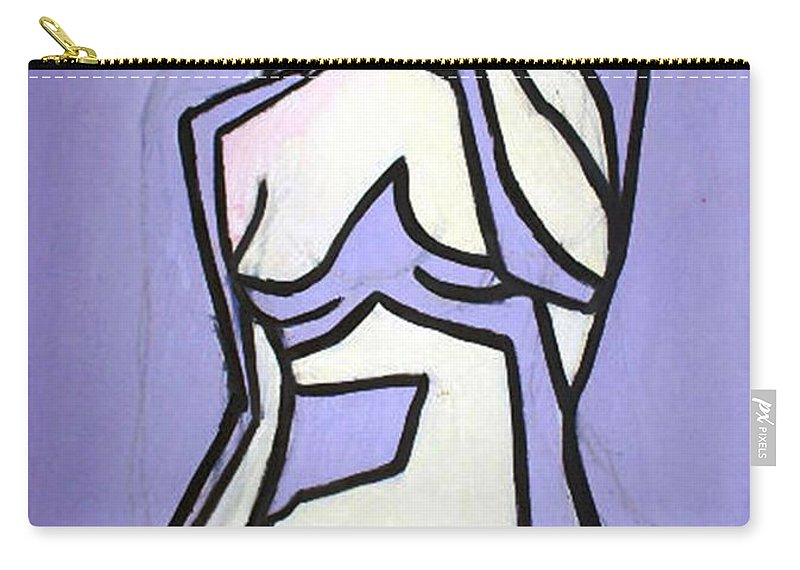 Nudes Carry-all Pouch featuring the painting Three by Thomas Valentine
