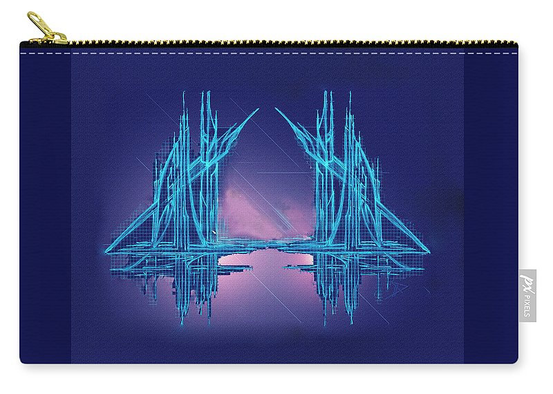 Abstract Carry-all Pouch featuring the digital art Threshold by Don Quackenbush