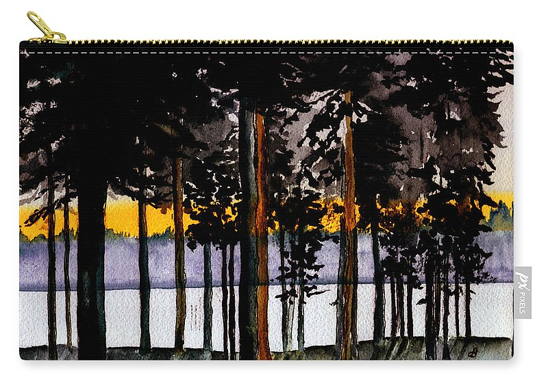 Watercolor Carry-all Pouch featuring the painting Through My Woods by Brenda Owen