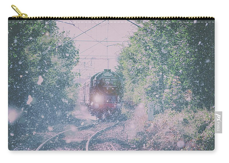 Snow Carry-all Pouch featuring the photograph Through The Blizzard by Martin Newman