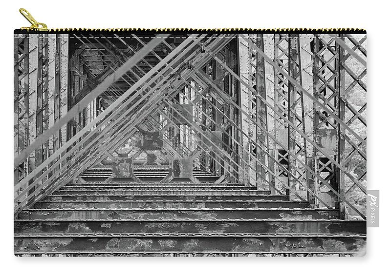Bridge Carry-all Pouch featuring the photograph Through The Bridge by Andrei Shliakhau