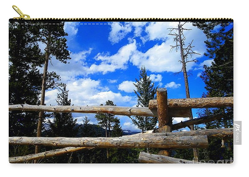 Wood Carry-all Pouch featuring the photograph Through The Fence by Charleen Treasures