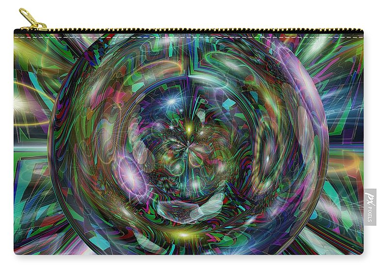 Abstract Carry-all Pouch featuring the digital art Through The Looking Glass by Tim Allen