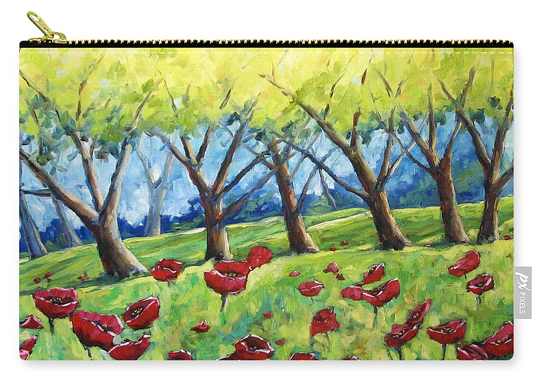 Landscape Carry-all Pouch featuring the painting Through The Meadows by Richard T Pranke