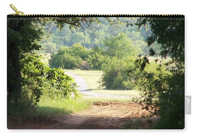 Woods Carry-all Pouch featuring the photograph Through The Woods by Gale Cochran-Smith