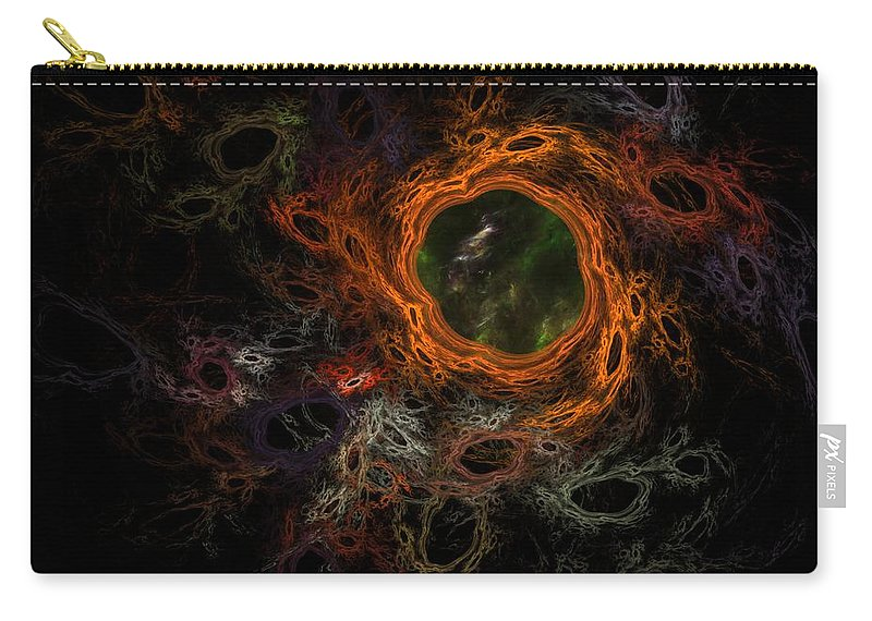 Fantasy Carry-all Pouch featuring the digital art Through The Worm Hole by David Lane