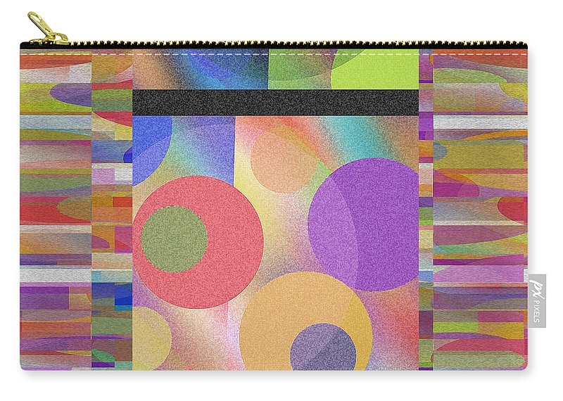 Abstract Carry-all Pouch featuring the digital art Through Thick And Thin by Ruth Palmer
