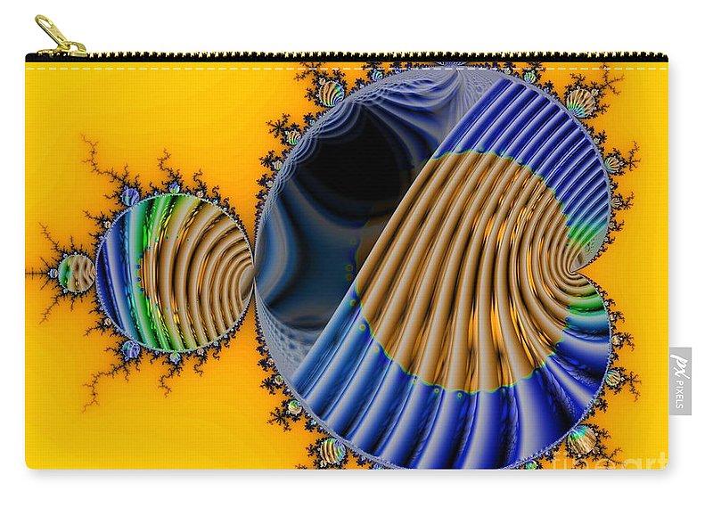 Julia Fractal Carry-all Pouch featuring the digital art Thru a Julia Lens by Ron Bissett