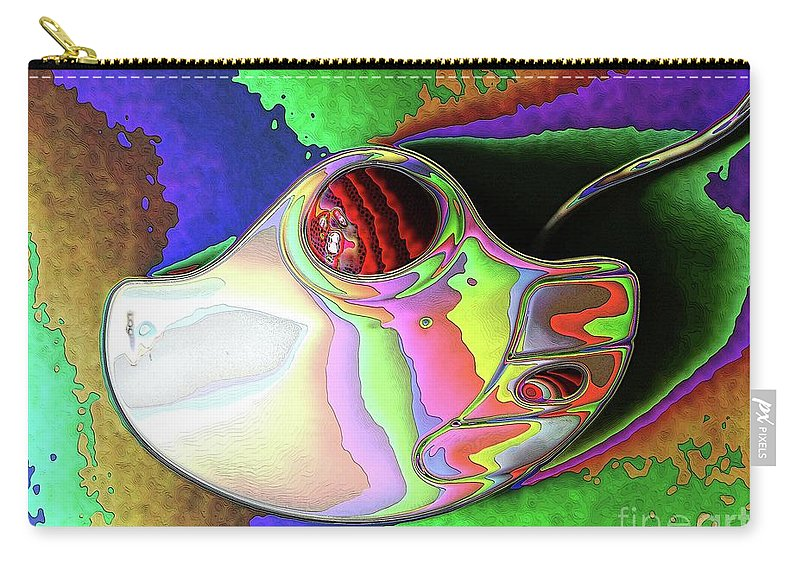 Abstract Carry-all Pouch featuring the digital art Thumb Mouse by Ron Bissett