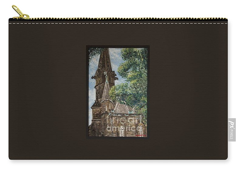 Carry-all Pouch featuring the painting Thun Castle by Pablo de Choros
