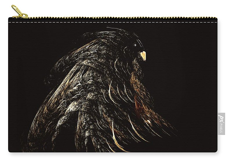 Abstract Digital Painting Carry-all Pouch featuring the digital art Thunder Bird by David Lane