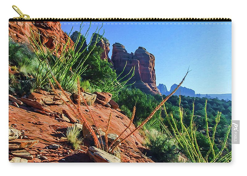 Sedona Carry-all Pouch featuring the photograph Thunder Mountain 07-006 by Scott McAllister
