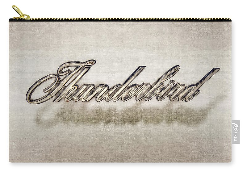 Automotive Carry-all Pouch featuring the photograph Thunderbird Badge by Yo Pedro