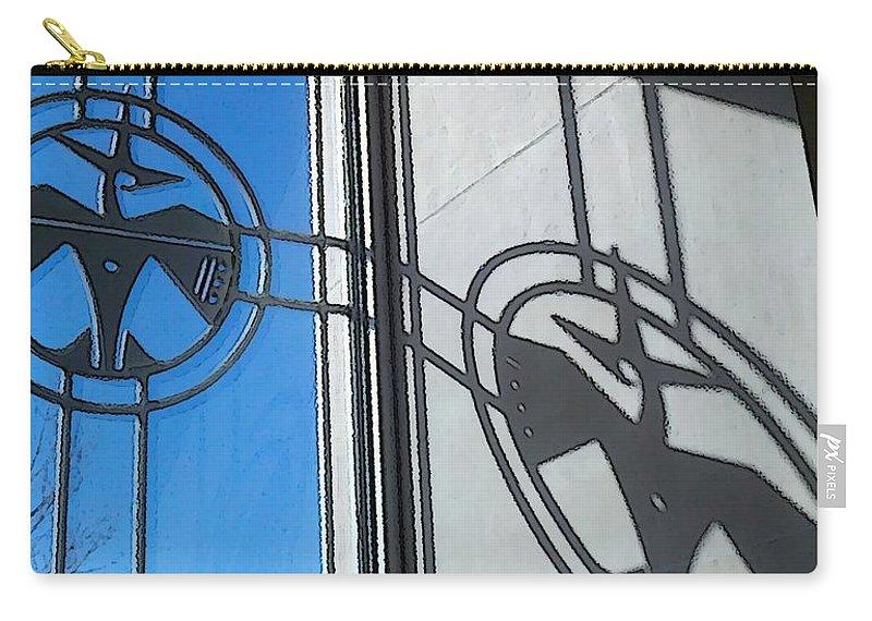 Thunderbird Carry-all Pouch featuring the digital art Thunderbird Motif by Max Katko