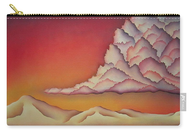 Landscape Carry-all Pouch featuring the painting Thunderhead by Jeniffer Stapher-Thomas
