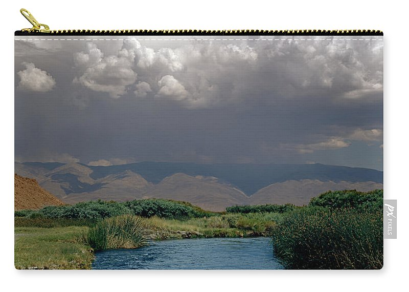 Clouds Carry-all Pouch featuring the photograph 2a6738-thunderhead Over Owens River by Ed Cooper Photography