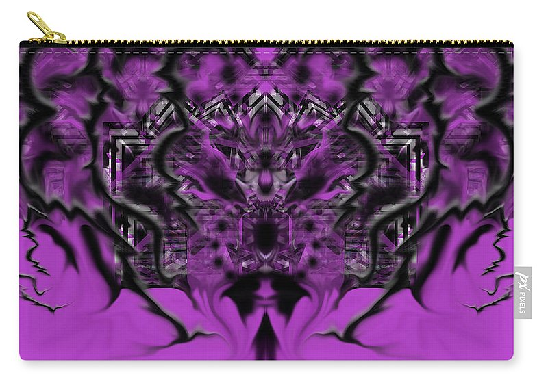 Carry-all Pouch featuring the digital art Thursday by Subbora Jackson