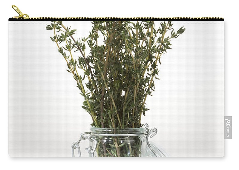 Thyme Carry-all Pouch featuring the photograph Thyme by Wolfgang Steiner