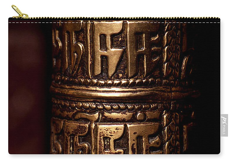 Prayer Wheel Carry-all Pouch featuring the photograph Tibetan Prayer Wheel by Patrick Klauss
