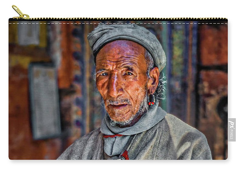 Himalaya Carry-all Pouch featuring the photograph Tibetan Refugee by Steve Harrington