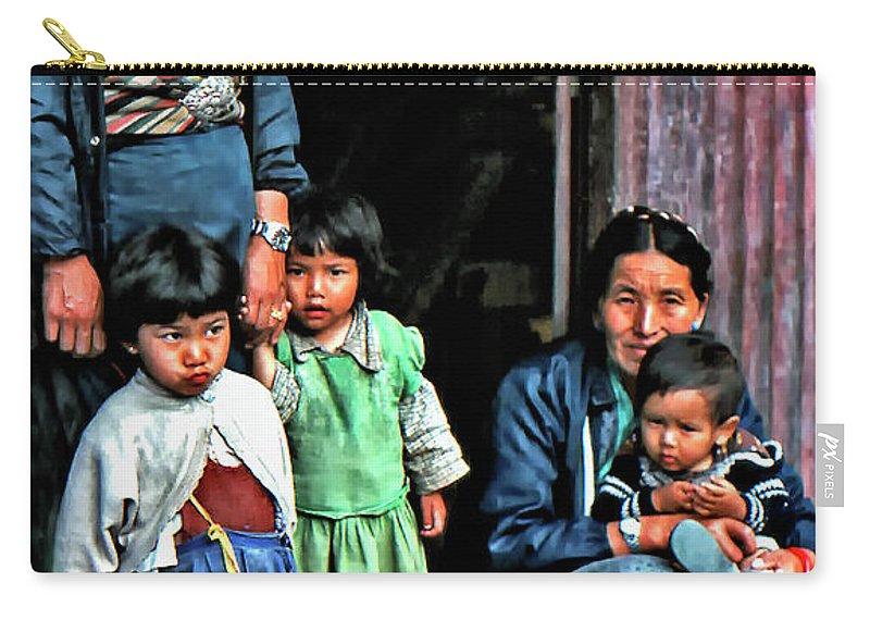 Darjeeling Carry-all Pouch featuring the photograph Tibetan Refugees by Steve Harrington