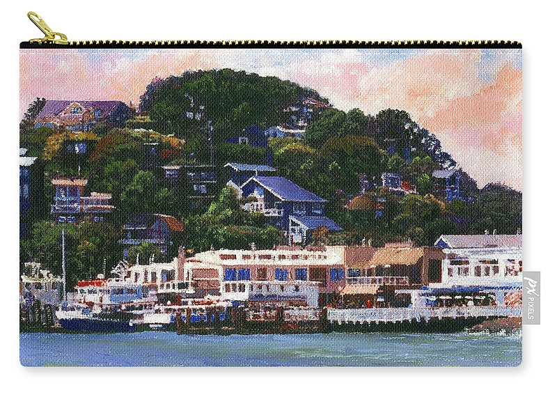 Landscape Carry-all Pouch featuring the painting Tiburon California Waterfront by Frank Wilson