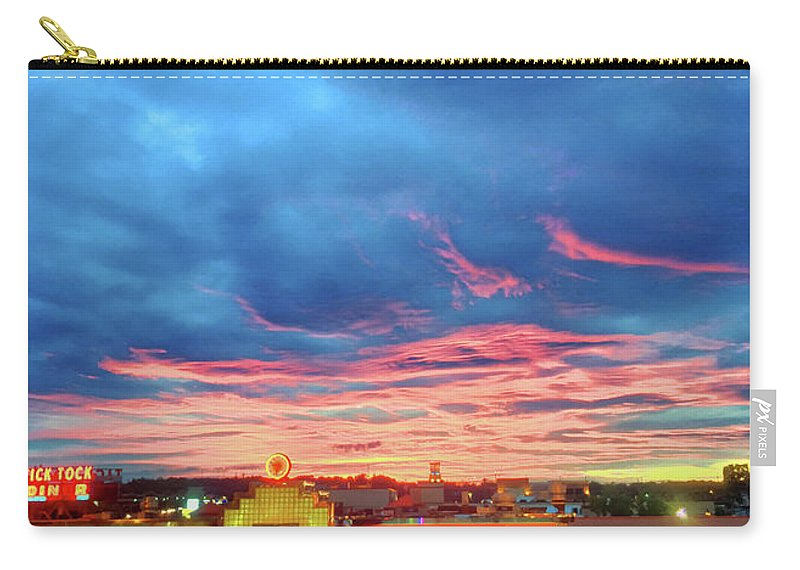 Tick Tock Carry-all Pouch featuring the photograph Tick Tock Diner, New Jersey by Dane Elcar