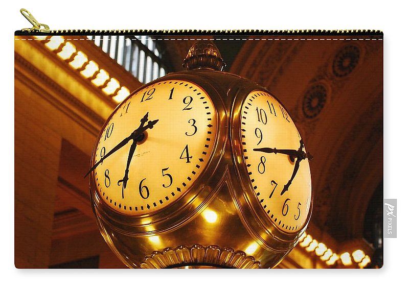 Clock Carry-all Pouch featuring the photograph Tick Tock by Stefa Charczenko