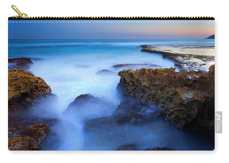 Pennington Bay Carry-all Pouch featuring the photograph Tidal Bowl Boil by Mike Dawson