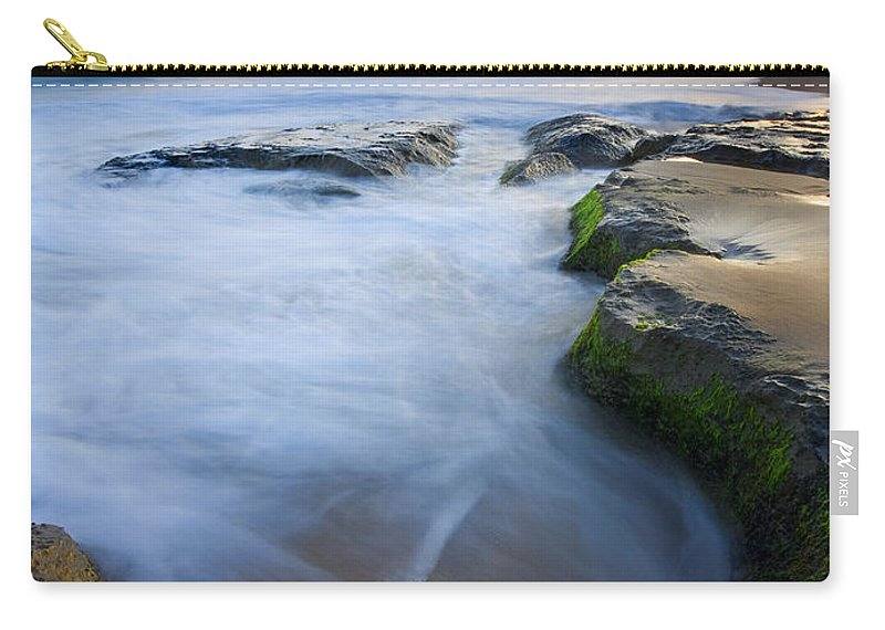 Beach Carry-all Pouch featuring the photograph Tidal Bowl by Mike Dawson