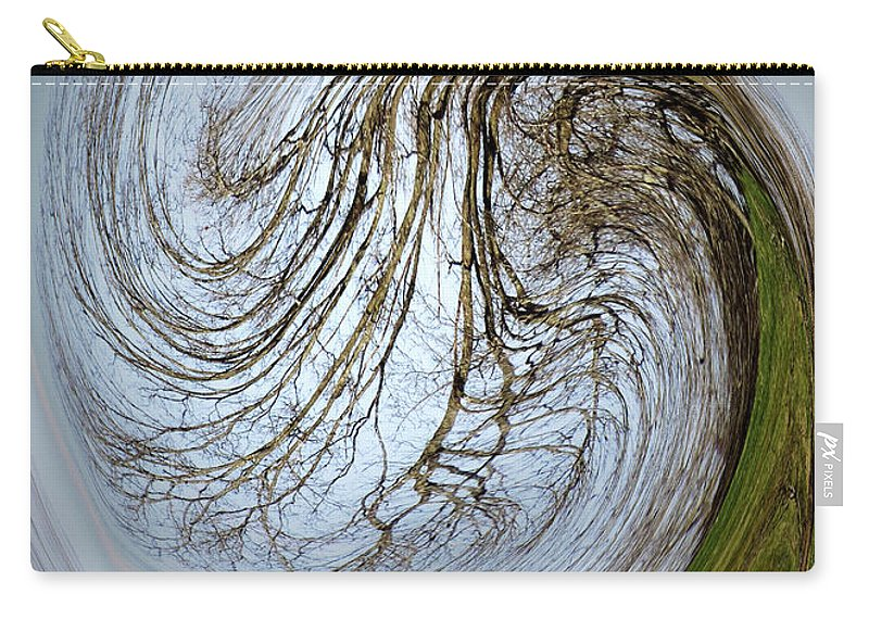 Earth Carry-all Pouch featuring the digital art Tidal Wave by Hannah Breidenbach
