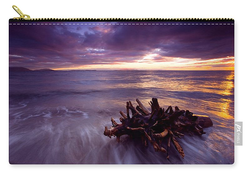 Sunset Carry-all Pouch featuring the photograph Tide Driven by Mike Dawson