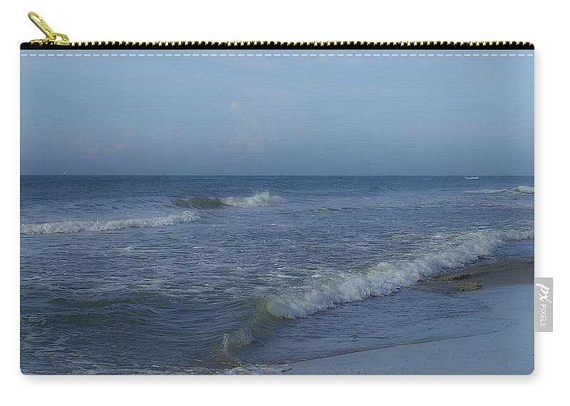 Tide Carry-all Pouch featuring the photograph Tide Rolling In Ocean Isle Beach North Carolina by Teresa Mucha