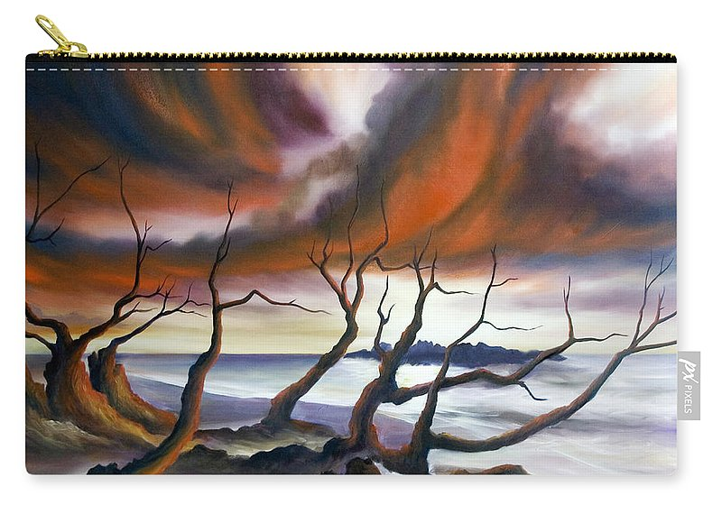 Marsh Carry-all Pouch featuring the painting Tideland by James Christopher Hill