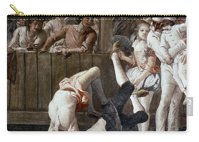 18th Century Carry-all Pouch featuring the photograph Tiepolo: Acrobats, 18th C by Granger