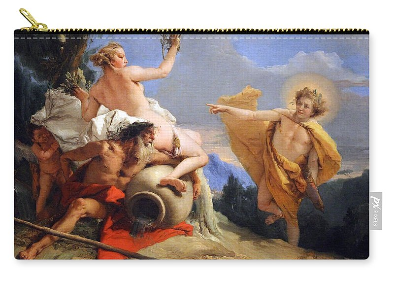Apollo Carry-all Pouch featuring the photograph Tiepolo's Apollo Pursuing Daphne by Cora Wandel