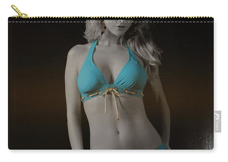 Sexy Carry-all Pouch featuring the photograph Tiffany Blue by Rob Hans