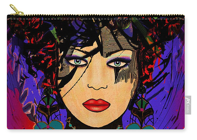 Natalie Holland Art Carry-all Pouch featuring the painting Tiffany by Natalie Holland