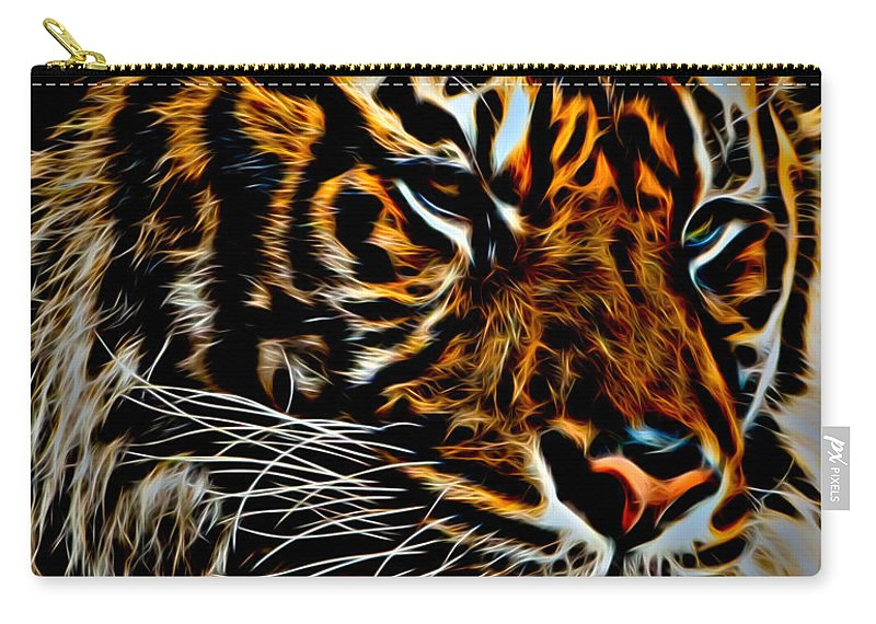 Tiger Carry-all Pouch featuring the photograph Tiger by David Pine