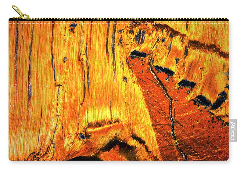 Macro Carry-all Pouch featuring the photograph Tiger Eye Macro by Robert Storost