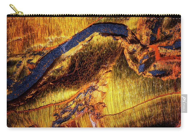 Macro Carry-all Pouch featuring the photograph Tiger Eye by Robert Storost