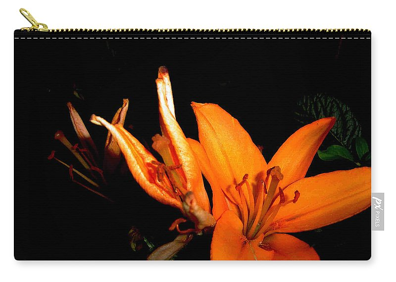Tiger Lily Carry-all Pouch featuring the photograph Tiger Lily by Joanne Smoley