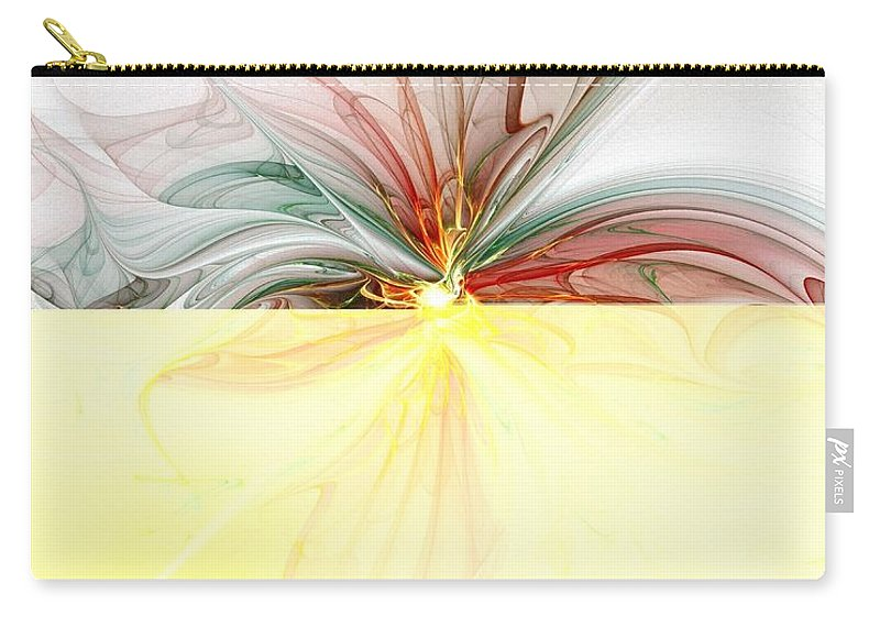Digital Art Carry-all Pouch featuring the digital art Tiger Lily by Amanda Moore