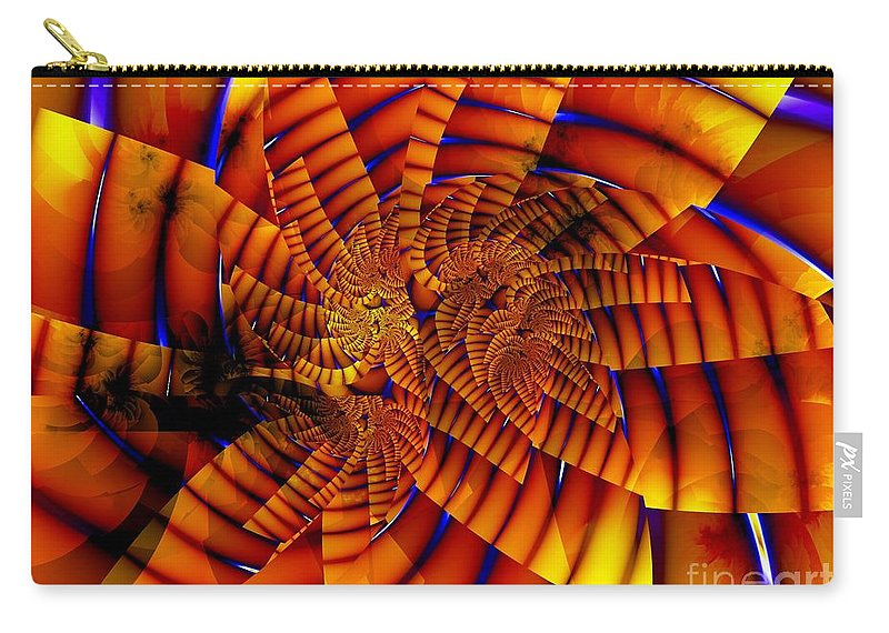 Flower Carry-all Pouch featuring the digital art Tiger Lily by Ron Bissett