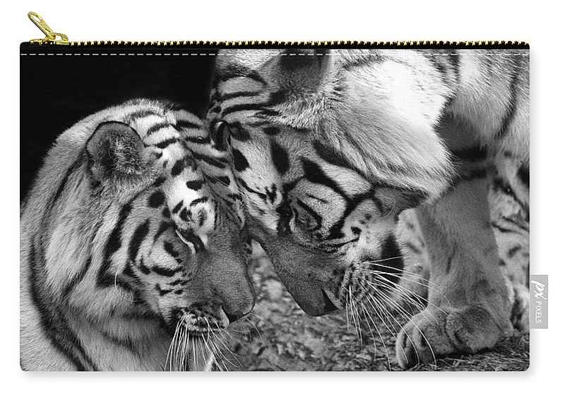 Tiger Carry-all Pouch featuring the photograph Tiger Love by Stephanie McDowell