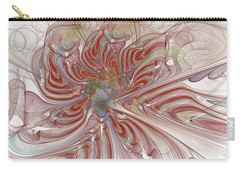 Mary Raven Carry-all Pouch featuring the digital art Tiger Orchid by Mary Raven