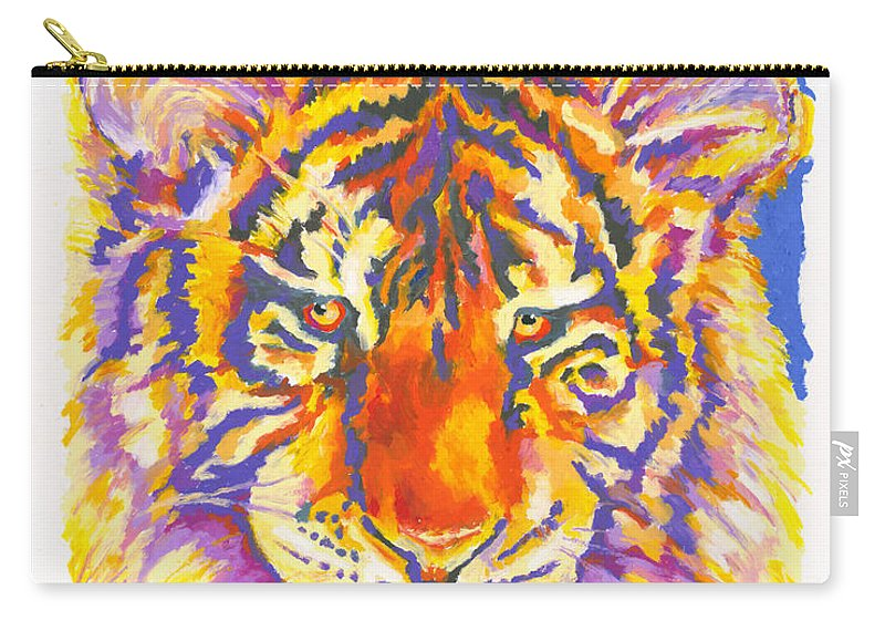 Tiger Carry-all Pouch featuring the painting Tiger by Stephen Anderson